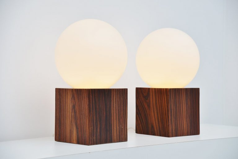 Studio Reggiani table lamps XXL Italy 1970