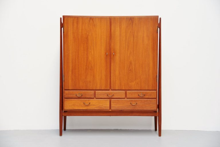 Niels Vodder high buffet in teak Denmark 1956