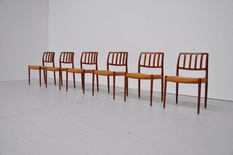 Niels Moller Model 83 dining chairs 1974