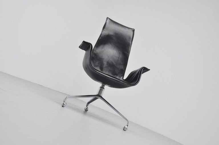 Preben Fabricius & Jorgen Kastholm bird desk chair 1964