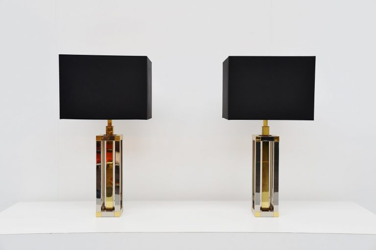 Romeo Rega attributed table lamps Italy 1970