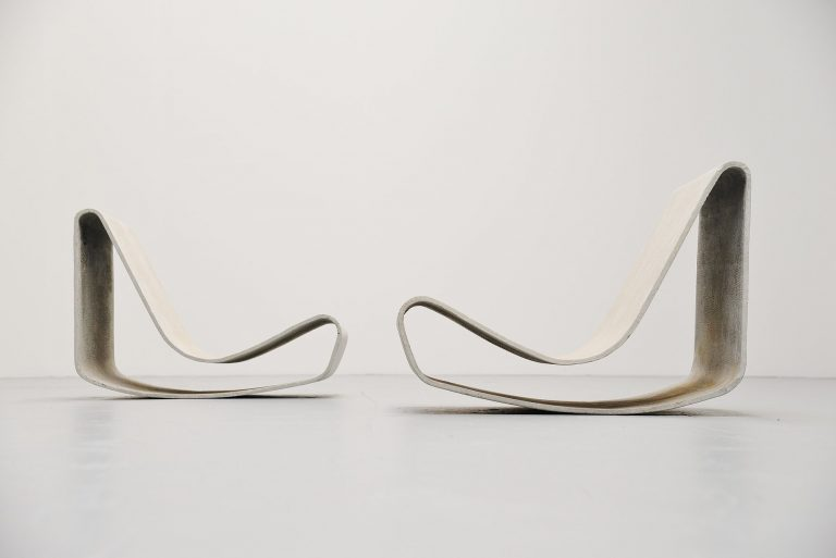 Willy Guhl Loop chairs set Eternit Switzerland 1954