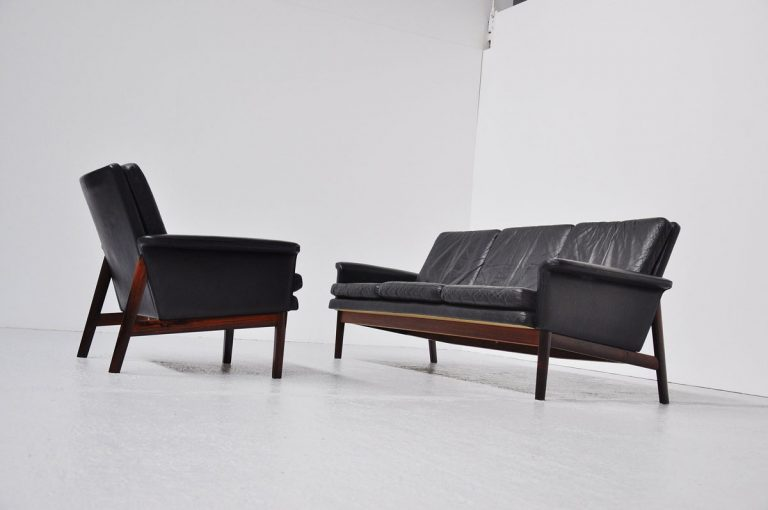 Finn Juhl Jupiter sofa set in Rosewood 1965