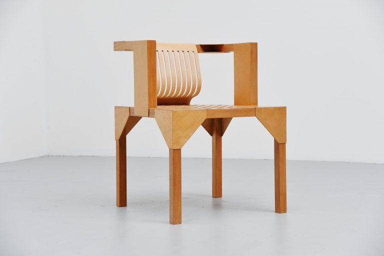 Ruud Jan Kokke modernist armchair Holland 1986