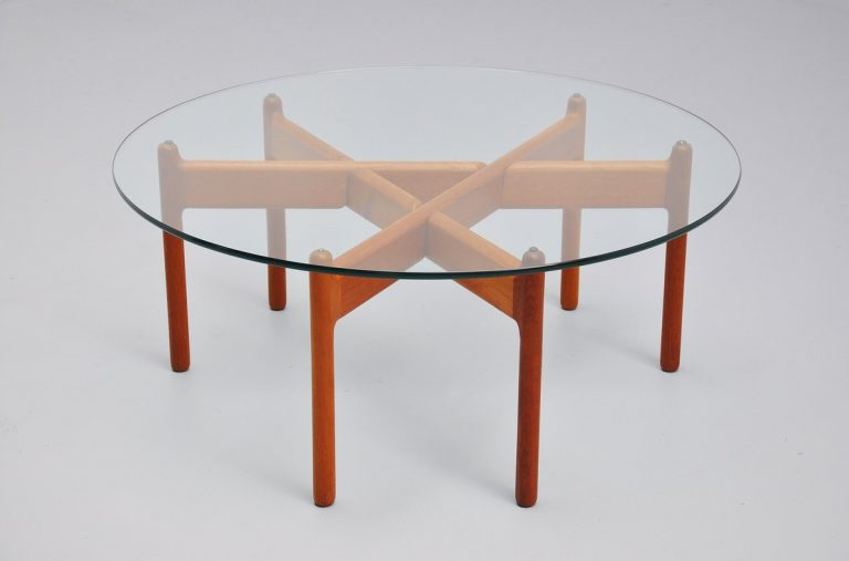 Niels Bach coffee table in teak Denmark 1960