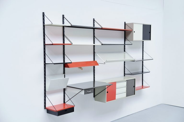 Pilastro shelving unit by Tjerk Reijenga Holland 1960