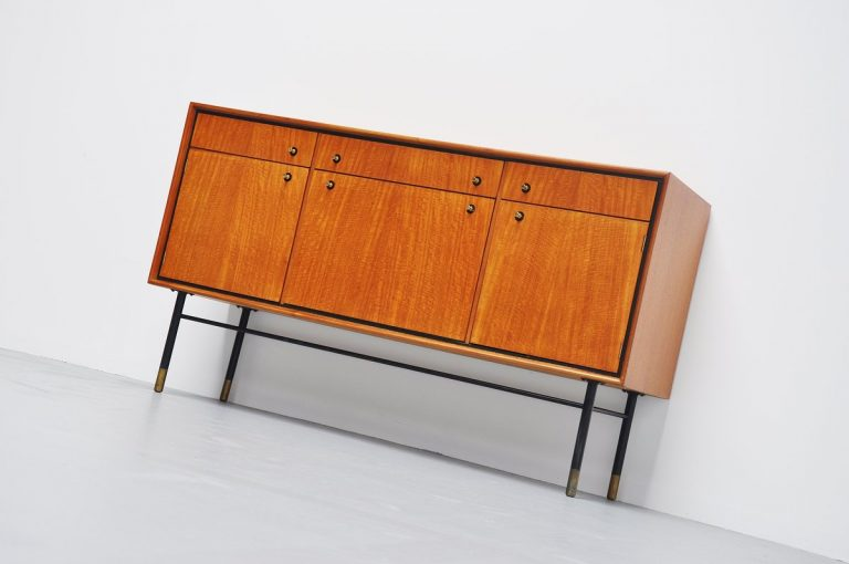 Architectural modernist credenza made in Holland 1960