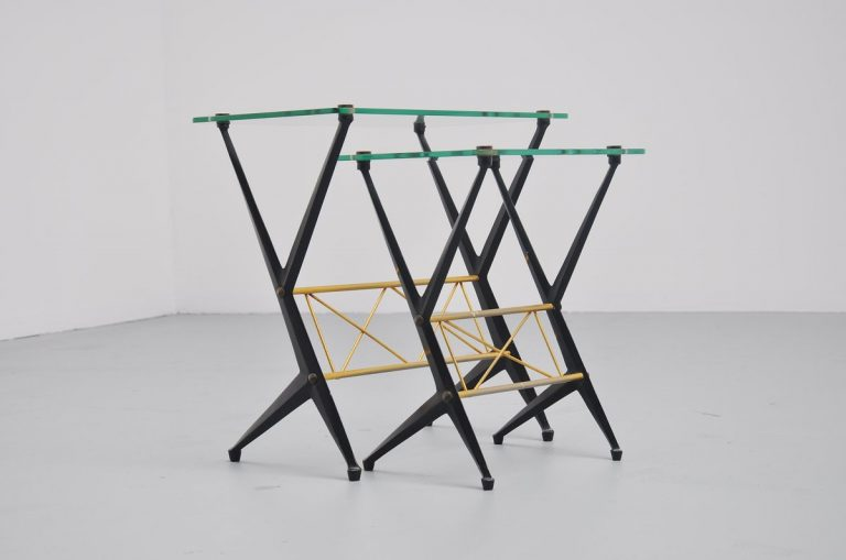 Angelo Ostuni pair of nesting tables Italy 1955