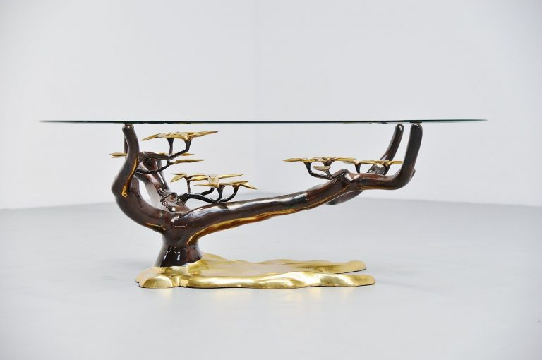 Willy Daro attributed tree form coffee table Belgium 1970