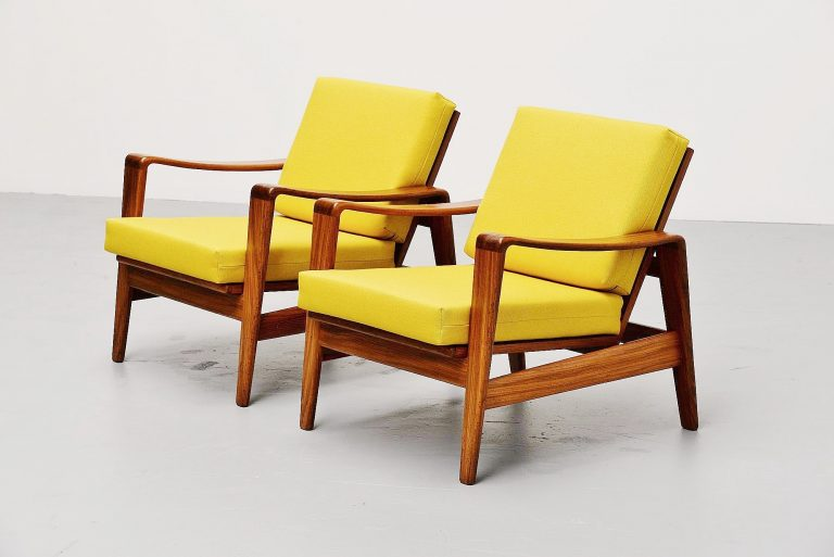 Arne Wahl Iversen easy chairs Komfort Denmark 1960
