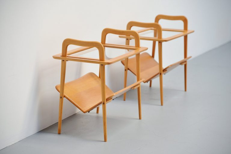 Ico Parisi pair of side tables italy 1953