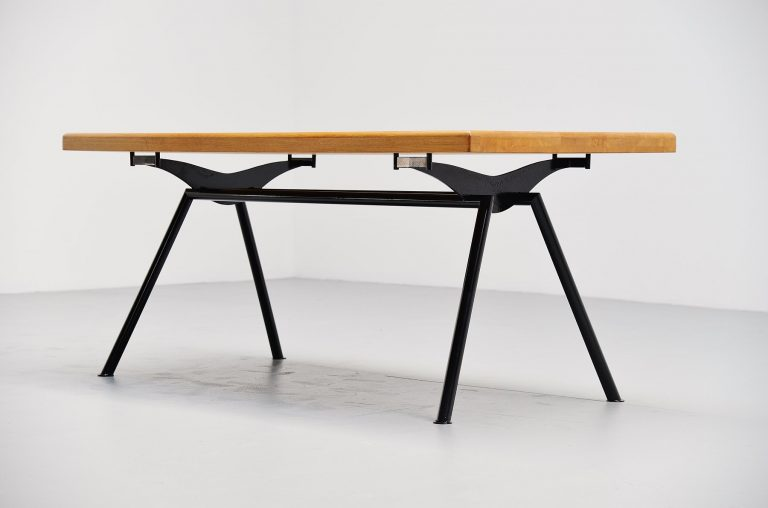 Prouve style quality dining table from France 1960