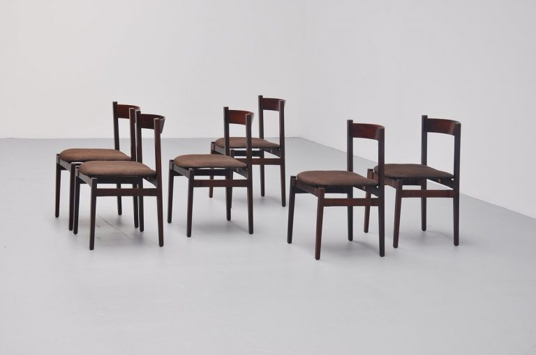Gianfranco Frattini dining chairs model 104 Cassina 1960