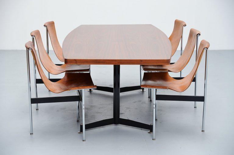 Ignazio Gardella style dining table Italy 1950