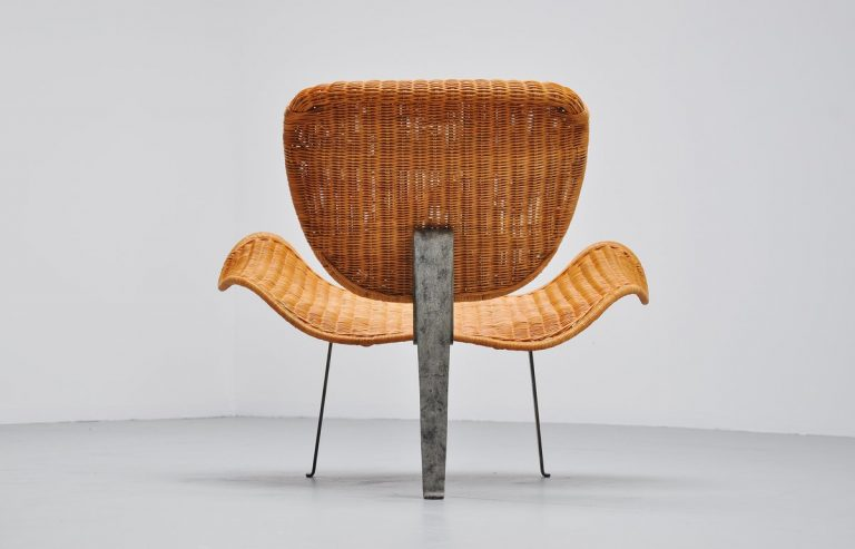 Freeform wicker lounge chair Germany 1970