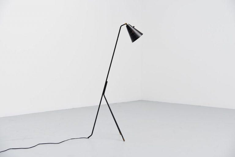 Svend Aage Holm-Sorensen floor lamp Denmark 1950