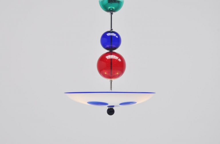 Simone Cenedese chandelier in Murano glass Italy 1980