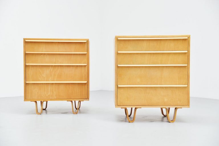 Pair of CB05 drawer cabinets by Cees Braakman Pastoe 1952