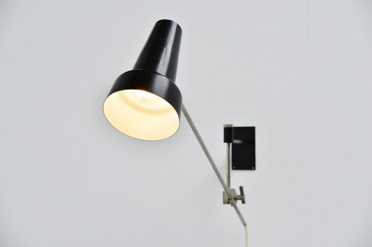 Willem Hagoort adjustable wall lamp Holland 1950