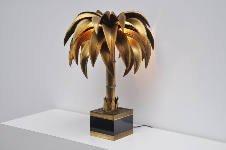 Maison Jansen palm tree lamp France 1970