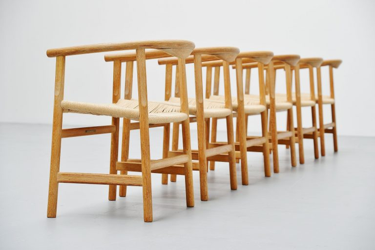 Hans Wegner PP203 dining chairs PP Møbler denmark 1969