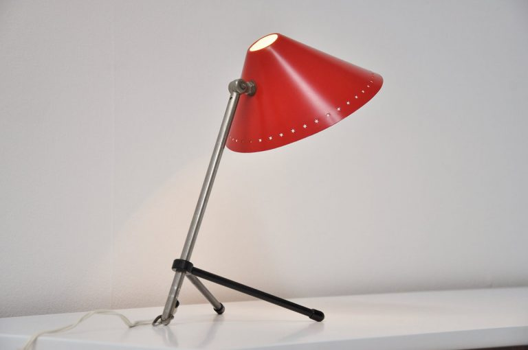 Hala Pinocchio table lamp red 1950