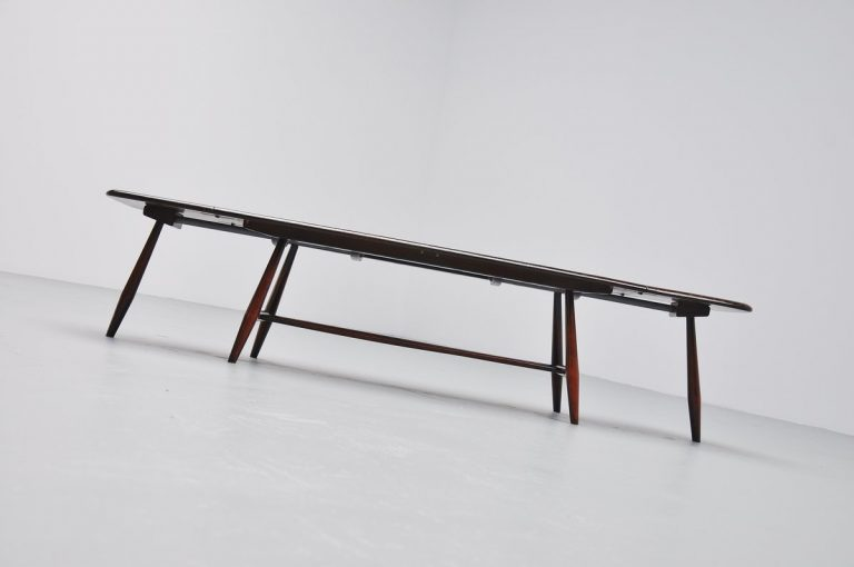 Luigi Ercolani magazine table drop leaves Ercol 1960