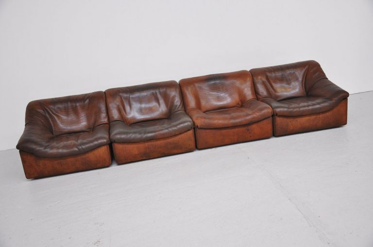 De Sede DS 46 element sofa bullhide 1970