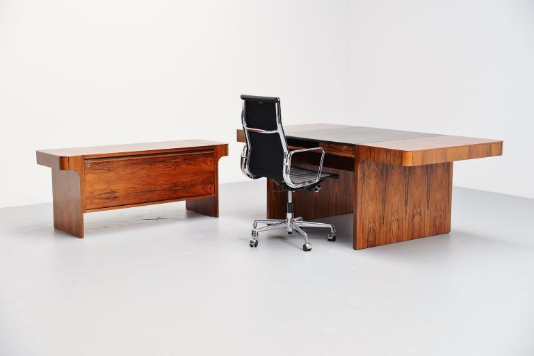 Danish rosewood conference desk set 1965
