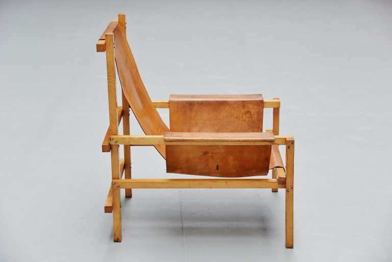 Gerrit Rietveld style slat chair Holland 1960