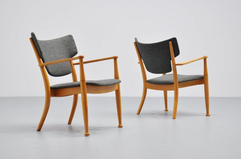 Peter Hvidt and Orla Molgaard Nielsen Portex easy chairs 1944