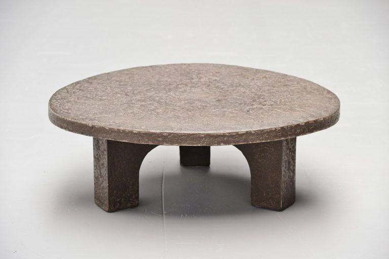 Brutalist coffee table in the style of Ado Chale 1970