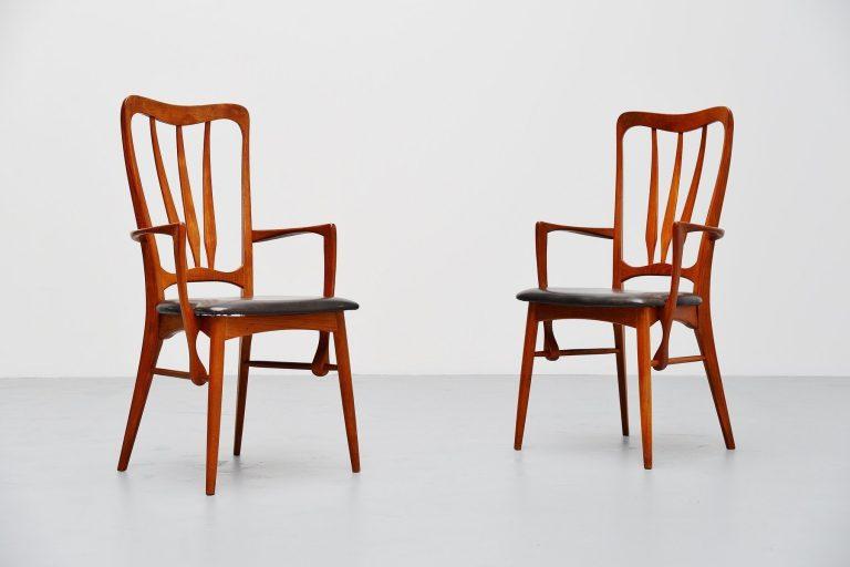 Niels Koefoed Ingrid armchairs pair Denmark 1960