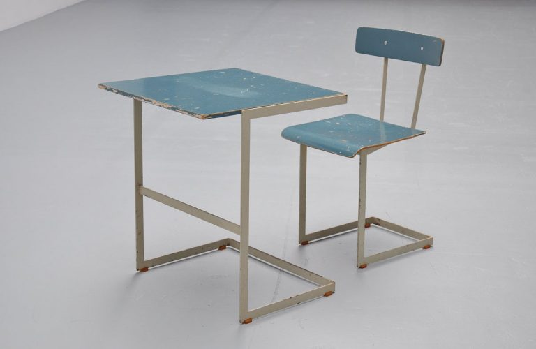 Auping desk table and chair 1950