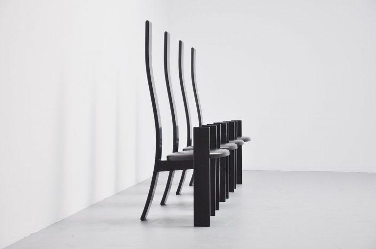 Vico Magistretti Golem dining chairs Poggi 1969