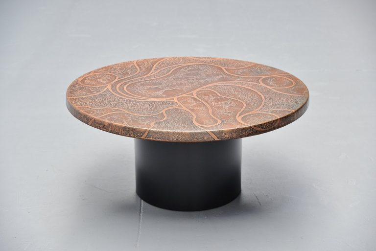 Heinz Lillienthal copper coffee table Germany 1970