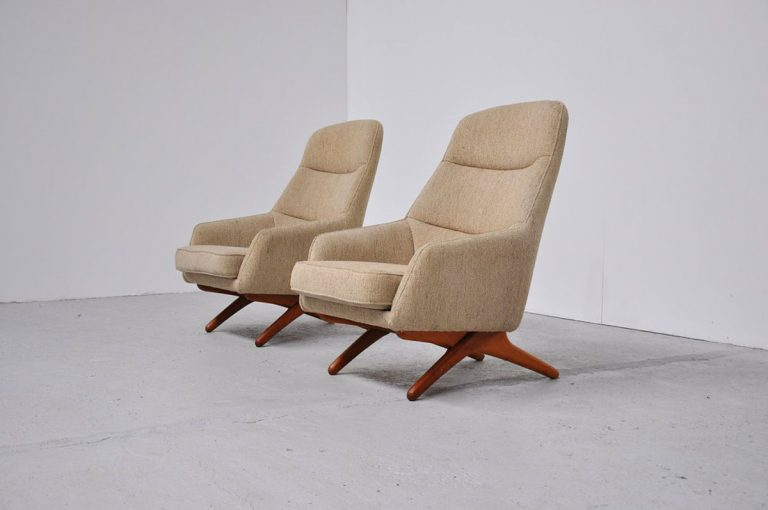 Illum Wikkelso easy chairs 1960