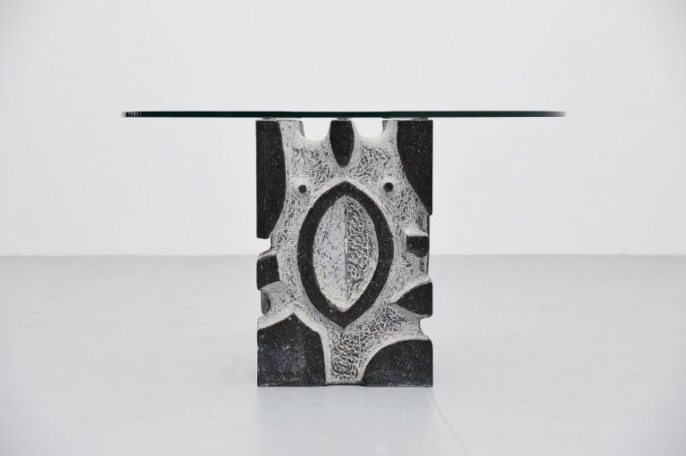 M. Fuentes brutalist center table Belgium 2003