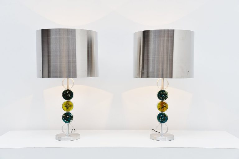 Raak table lamps monumental sized Holland 1972