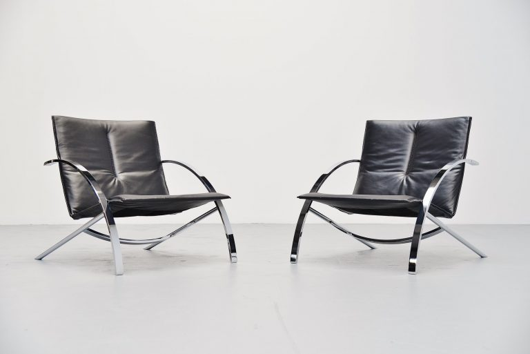 Paul Tuttle Arco lounge chair pair for Strassle 1976