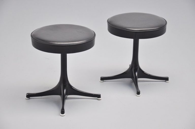George Nelson pair of stools for Herman Miller 1955
