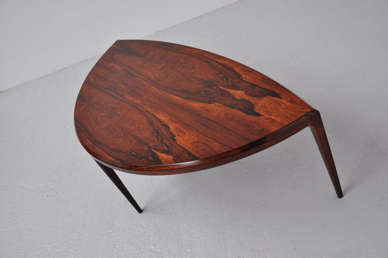 Johannes Andersen rosewood coffee table Silkeborg 1960
