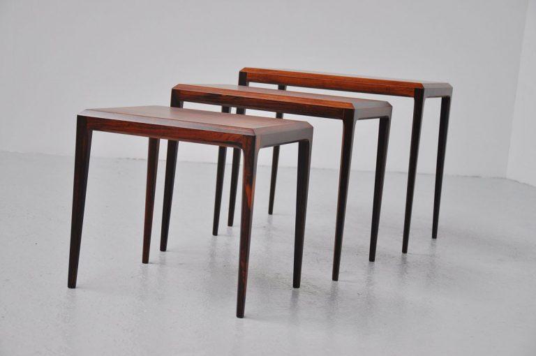 Johannes Andersen CFC Silkeborg Nesting table set 1960