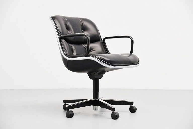 Charles Pollock executive desk chair Knoll International USA