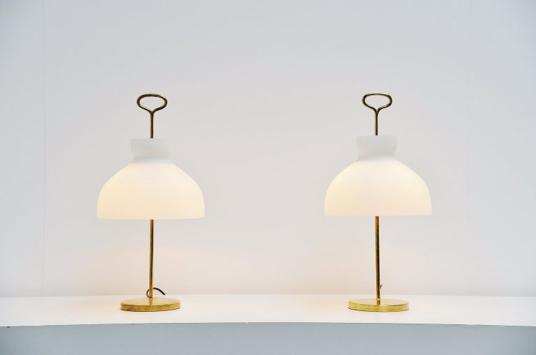 Ignazio Gardella Arenzano table lamps Azucena 1956