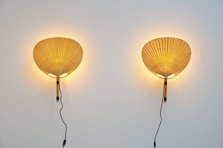 Ingo Maurer Uchiwa III wall lamps 1973