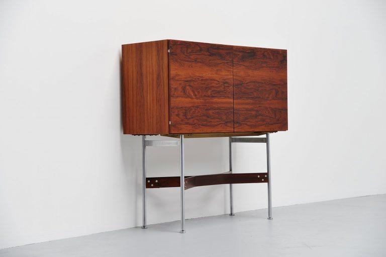 Rudolf Glatzel Fristho rosewood bar cabinet Holland 1956