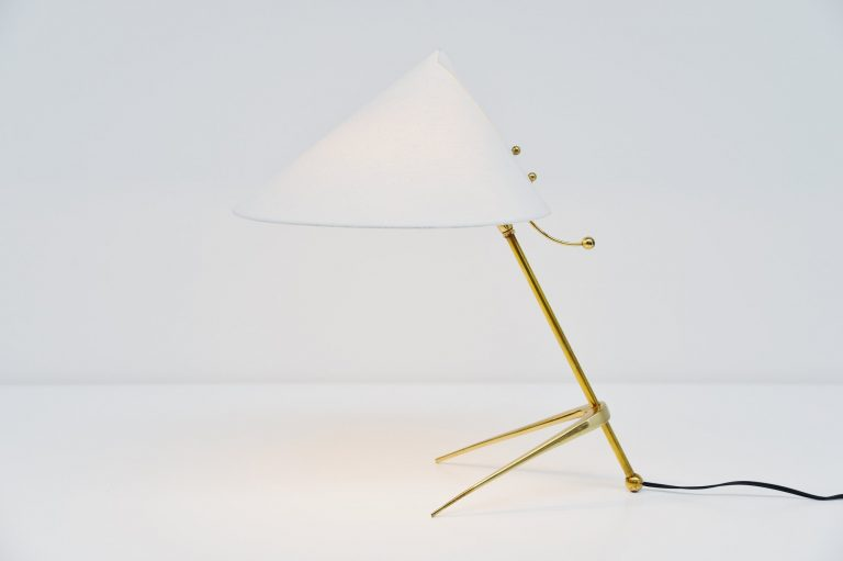 J.T. Kalmar brass table lamp Austria 1955