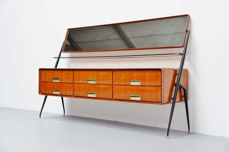 Silvio Cavatorta sideboard with mirror Italy 1958