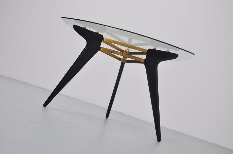 Belgian coffee table in the manner of Alfred Hendrickx 1950